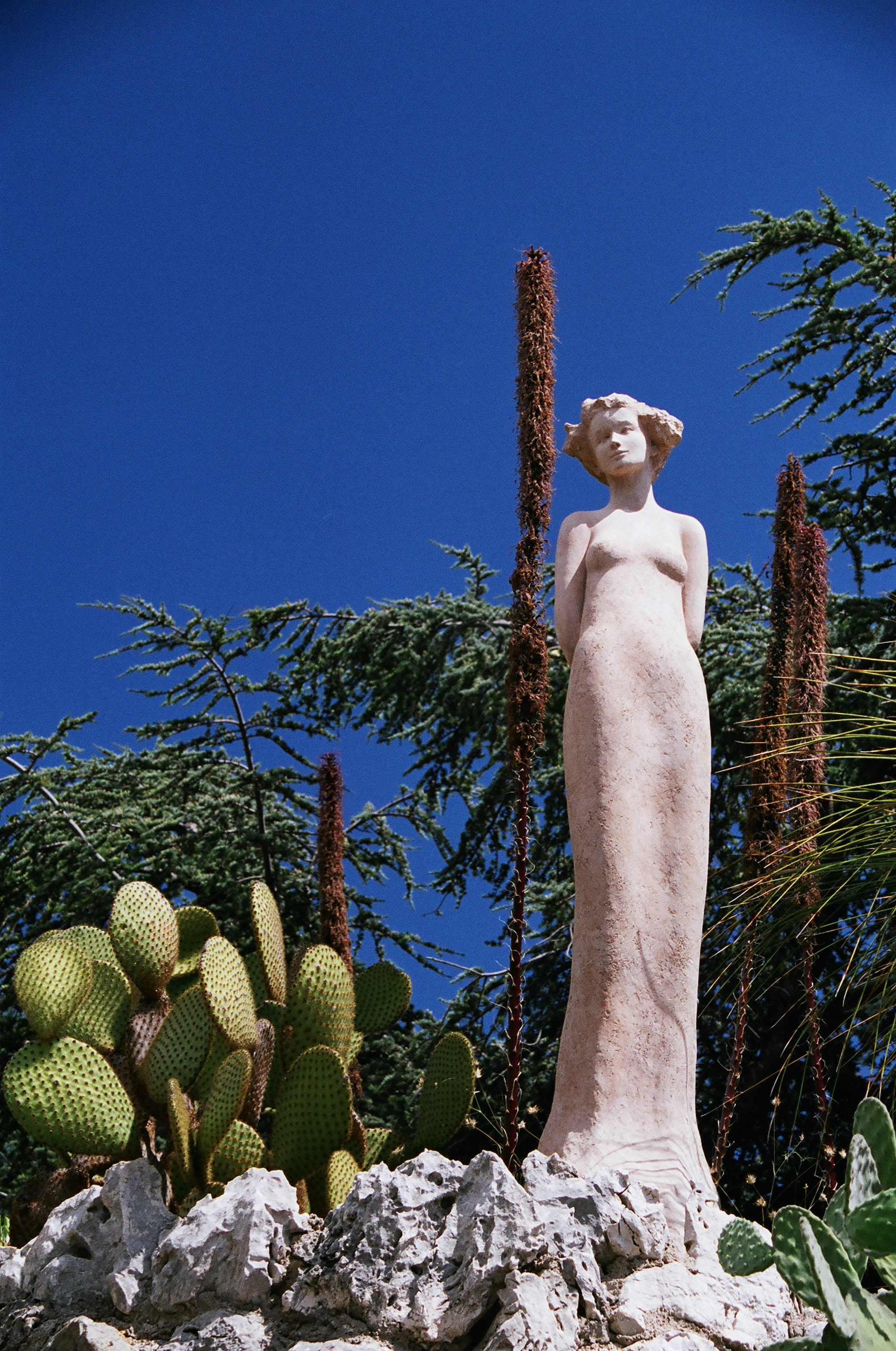 Saisir la perche one quality the finest for Eze jardin exotique statues