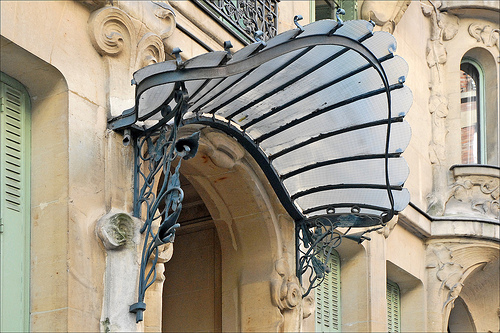 Une marquise one quality the finest - Immeuble art nouveau ...
