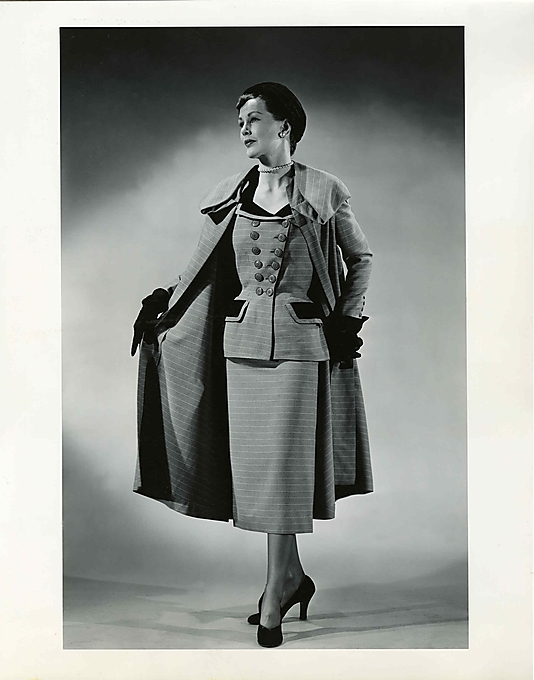 Madeleine Vramant suit and coat ensemble