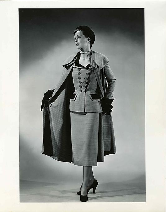 Madeleine Vramant suit and coat ensemble