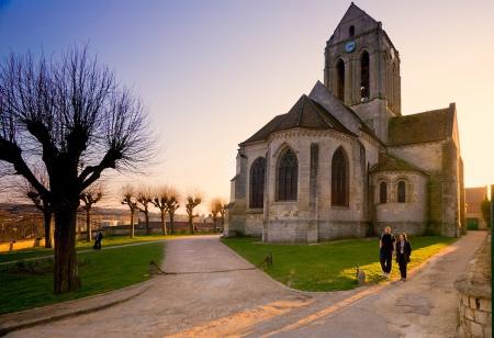 France, Church of Auvers-sur-Oise. painted by Vincent van Gogh